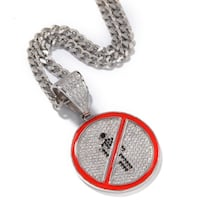 BROOZIE NO STOP SIGN  ZIRCON COPPER CHAIN NECKLACE