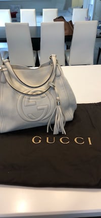Authentic Gucci Soho Shoulder Bag - Ivory Windermere, 34786