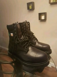pair of black leather work boots Calgary, T3J 1K5