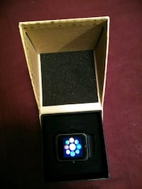 Black smart watch with box