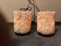 2 white seashell lamp.  9 inches tall  Spring Hill, 34609