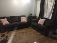 Dark Grey Chenille Sofa & Loveseat 717 km