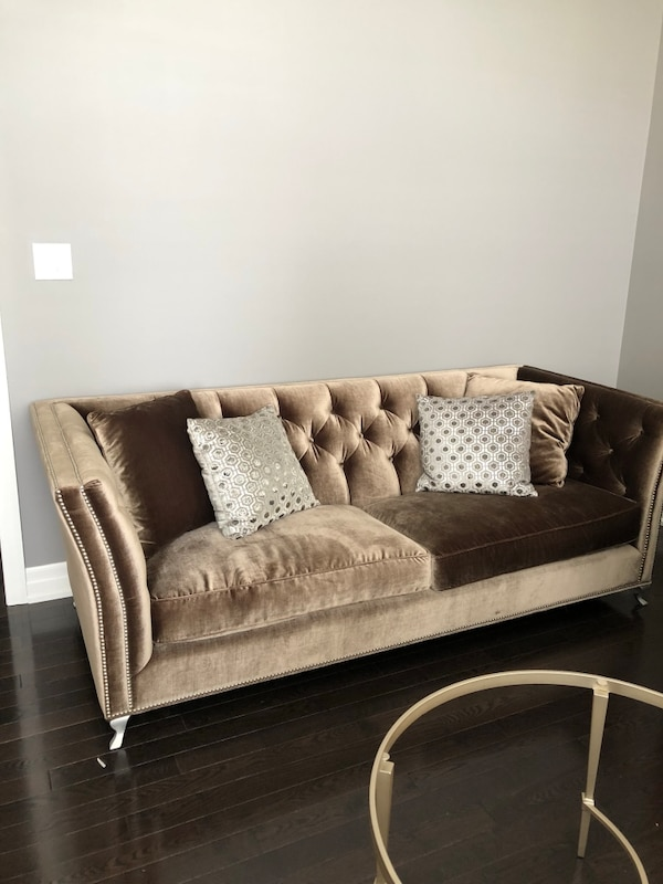 Brown Italian designer sofas 2 are available for sale $1600 each