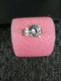 silver-colored ring with clear gemstones Yuma, 85364