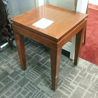 "Side Table with Glass top W18"" D18"" H24""  Oakville, L6L 5N1"
