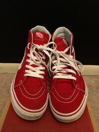 Vans Red high top size 9.5(NEED GONE TODAY) Price is Negotiable Crofton, 21114