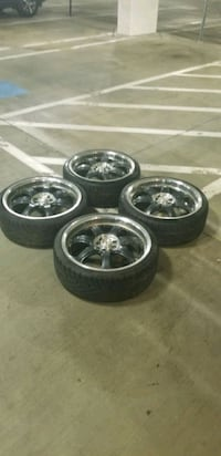 4  19in 4x100  4x114.3 carbon fiber wheels  with good tires  Montgomery Village, 20886