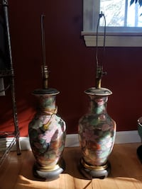 Pair of floral lamps  NEEDHAM