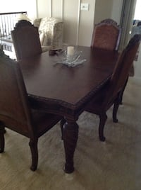 Real wood dining room table with 2 leafs and 6 chairs Swedesboro, 08085