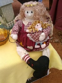 Christmas doll with led lights and dangling feet Phenix City, 36867