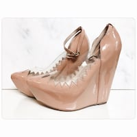 PRICE IS FIRM - Jeffrey Campbell Audrey in Patent Beige - Brand New Toronto, M4B 2T2