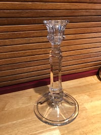 Tall glass candle stick holder 25 km