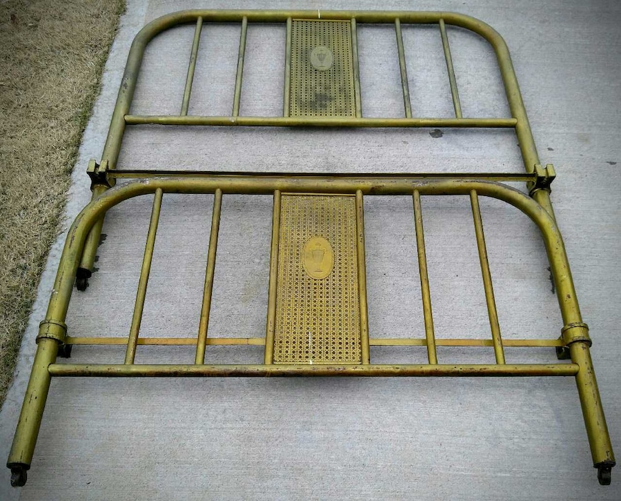 Antique Iron Bed Frame Parts : Used antique iron bed in mcdonough
