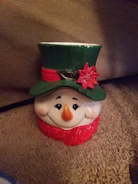 Ceramic Snowman Container Dubuque