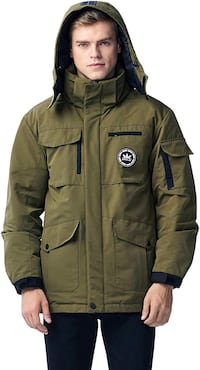 New men warm parka jacket XL