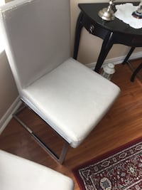 2 Grey leather dinning chairs both for $20 Mississauga, L5B