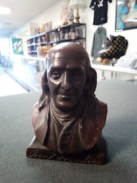 Historical Benjamin Franklin Coin Bank (from The Franklin Life Insurance Company) / READ BELOW Tucson