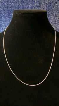 """Sterling Silver 20"""" Thin Rope Chain Necklace with Spring Ring Clasp Massachusetts"""