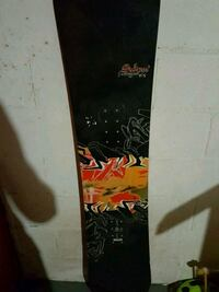 black and red snowboard deck Edmonton, T6C 1R1