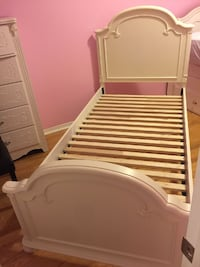 White child's twin bed