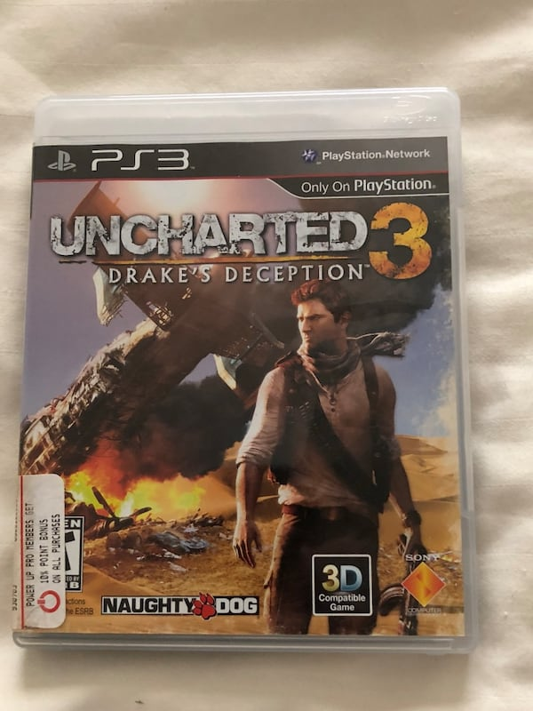 Used Sont Ps3 Uncharted 3 Case For Sale In Lake Worth Letgo