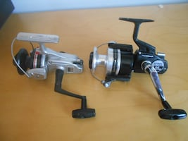 2 big fishing reels, metal 55$ each,