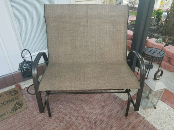 Used Outdoor Glider Loveseat Like New 42 Inches Wide By