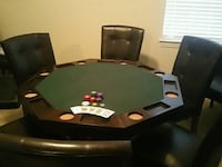 Octagon Poker/Bumper Pool Table w/chairs Manteca, 95337