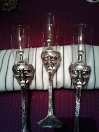 three gray steel based flute glass Silver Spring, 20904