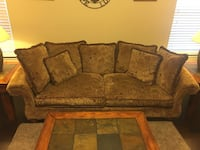 brown fabric 2-seat sofa Highland Village, 75077