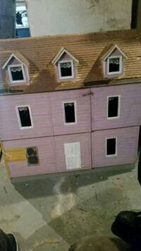 Doll house made from wood homemade