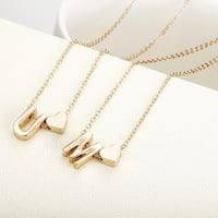 Tiny gold initial necklace gold letter name Personalized pendant for women girls best birthday gift Silver Spring, 20906