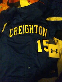 New Georgetown under armour baseball jersey number 15