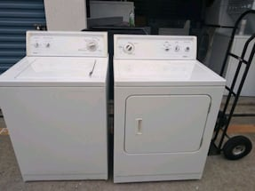 Kenmore whaser and dryer set súper capacity plus