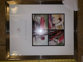 Classic bicycle framed art 4 piece set.