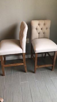 Two light tan upholstered chairs Dallas, 75201
