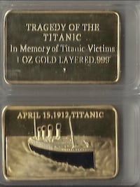 April 15, 1912. Titanic Collectable... $40  Calgary