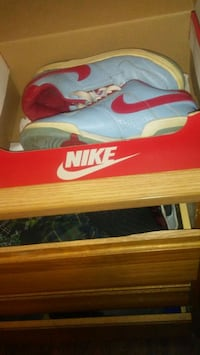 pair of blue-and-red Nike sneakers Durham, 27701