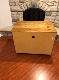 brown wooden single drawer side table Markham, L3P 7E5