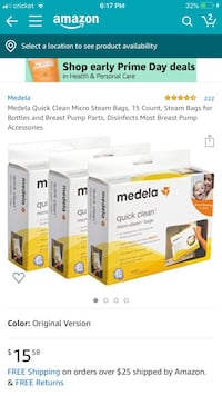 Medela quick clean microwave steam bag Annandale, 22003