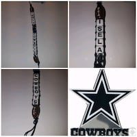 black and white Dallas Cowboys pendant necklace Brownsville, 78521