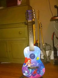 blue and purple Disney little mermaid guitar Chicago, 60632