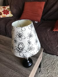 white and black floral table lamp Stewartstown, 17363