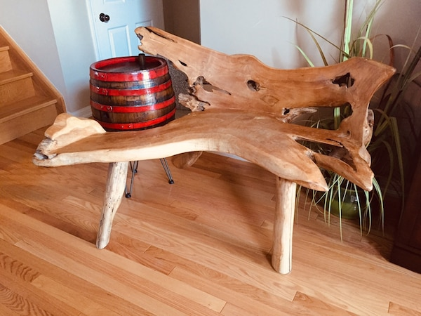 Teak root bench from Indonesia