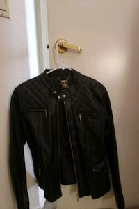 Black leather jacket. Roseville, 95661