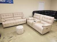 Real leather power recliner sofa OR loveseat with console  Jacksonville, 32216