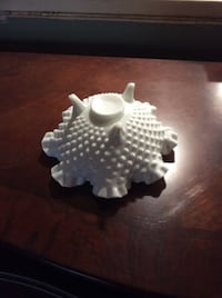 Fenton milk glass footed candy dish Newburgh, 12550
