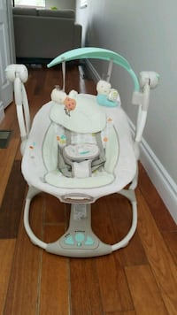 baby's white and gray cradle and swing Surrey, V3R 2J8