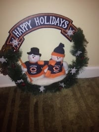 Chicago Bears Holiday Wreath