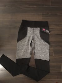 Gray and black workout leggings Lincoln, L0R